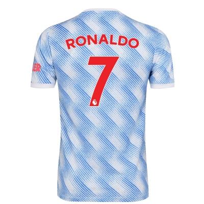 Tricou Deplasare adidas Manchester United Cristiano Ronaldo 2021 2022 pentru copii alb
