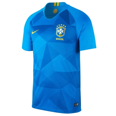 Tricou Deplasare Nike Brazil 2018 albastru