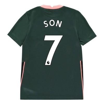 Tricou Deplasare Nike Tottenham Hotspur Heung Min Son 2020 2021 pentru copii verde