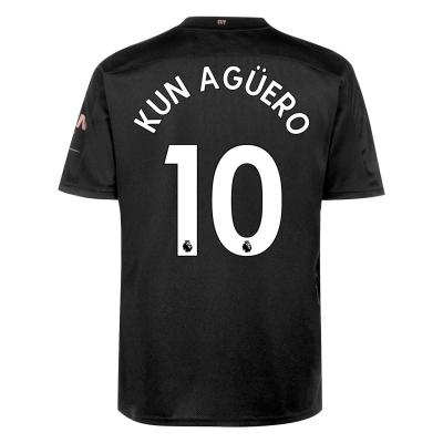 Tricou Deplasare Puma Manchester City Sergio Aguero 2020 2021 negru