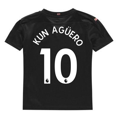 Tricou Deplasare Puma Manchester City Sergio Aguero 2020 2021 pentru copii negru