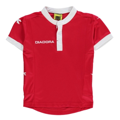 Tricou Diadora Fresno pentru baietei rosu alb