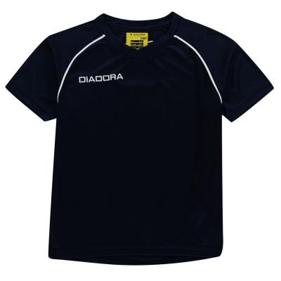 Tricou Diadora Madrid pentru baietei inchis albastru alb