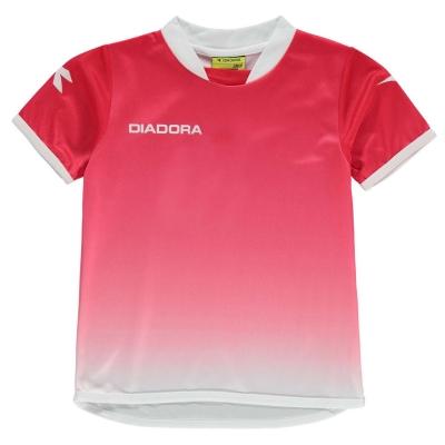 Tricou Diadora pentru baietei rosu alb
