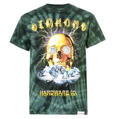 Tricou Diamond Supply Co. Gold Skull verde