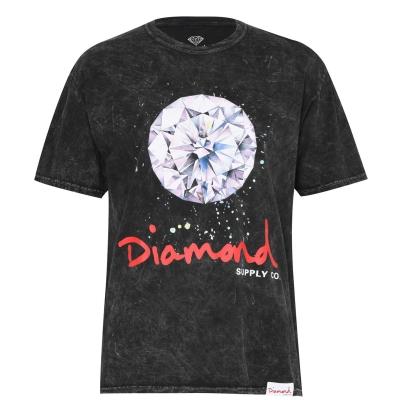 Tricou Diamond Supply Co. Splash pentru Barbati negru albastru