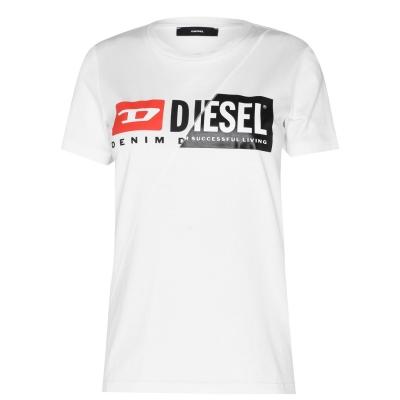 Tricou cu imprimeu Diesel Original alb