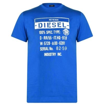 Tricou Diesel Text imprimeu Graphic 8ii albastru