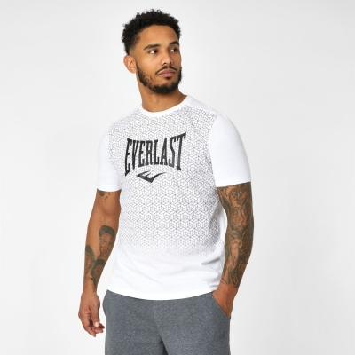 Tricou Everlast Geo Print pentru Barbati alb