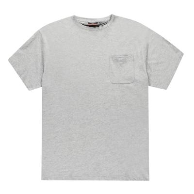 Tricou Pierre Cardin Extra Large Single cu buzunar pentru Barbati gri marl
