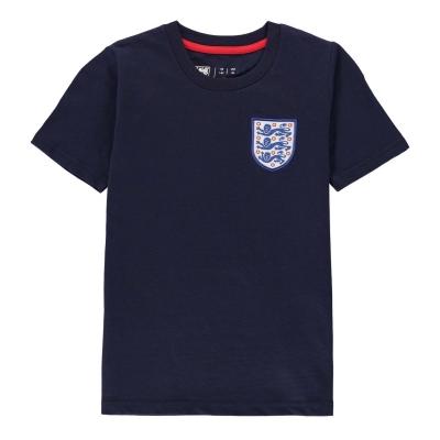 Tricou FA Anglia Small Crest Juniors bleumarin