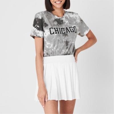 Tricou Fabric City Tie Dye pentru femei chicago gri