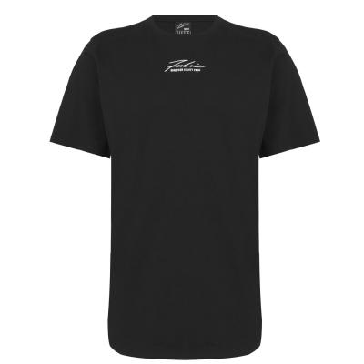 Tricou Fabric Embroidered Signature negru