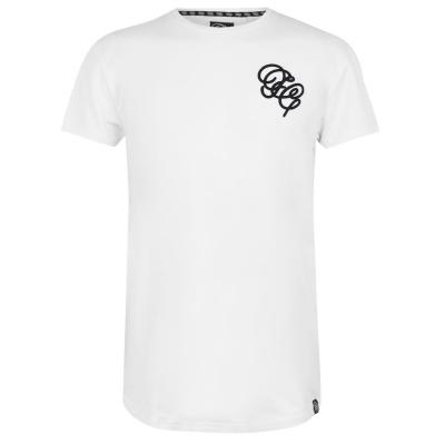 Tricou Fabric Embroidered pentru Barbati alb
