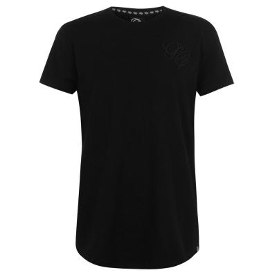 Tricou Fabric Embroidered pentru Barbati negru