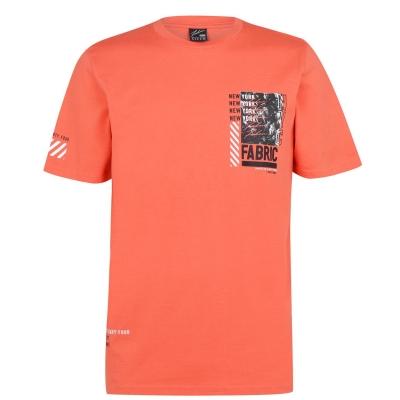 Tricou Fabric imprimeu Graphic portocaliu