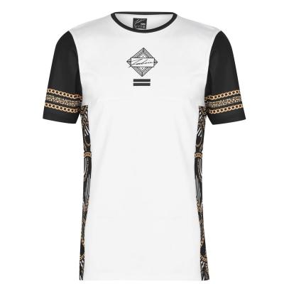 Tricou Fabric Sub pentru Barbati ornate alb