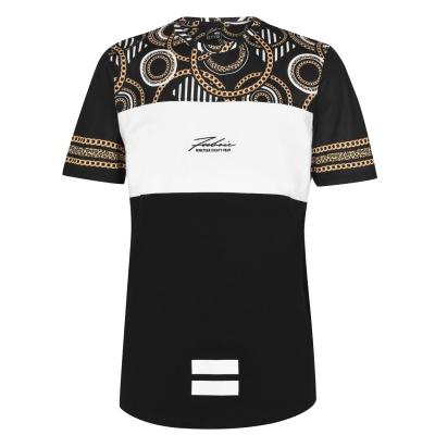 Tricou Fabric Sub pentru Barbati ornate negru