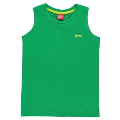 Tricou fara Maneci Slazenger pentru baietei bright verde