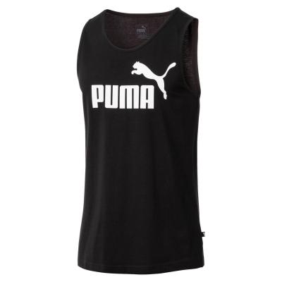 Tricou fara Maneci Puma 1 pentru Barbati negru alb