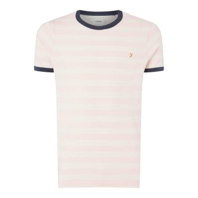 Tricou Farah Vintage Belgrave cu dungi roz haze