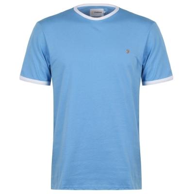 Tricou Farah Vintage Groves Ringer albastru