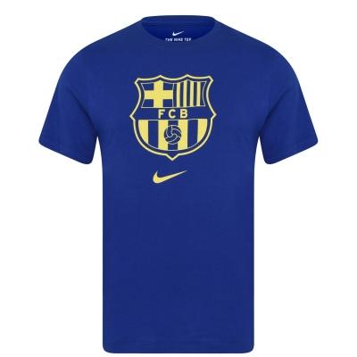 Tricou FC Barcelona FC verde Crest albastru