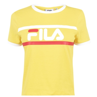 Tricou Fila Ash Crop pentru Femei galben