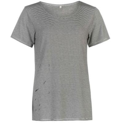 Tricou Firetrap Blackseal Distressed pentru Femei gri