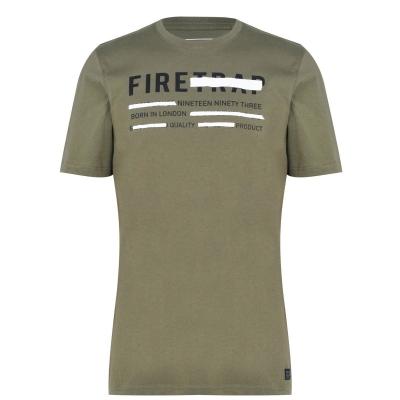 Tricou Firetrap imprimeu Graphic pentru Barbati kaki delete