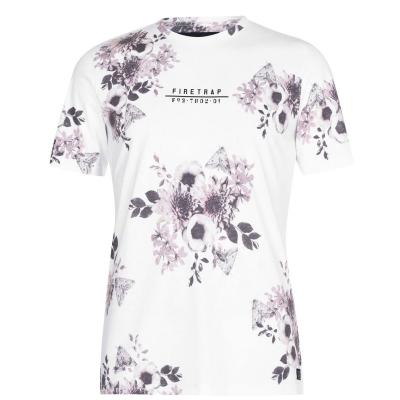 Tricou Firetrap Sub pentru Barbati alb floral
