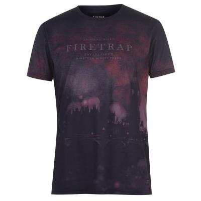 Tricou Firetrap Sub pentru Barbati bleumarin city
