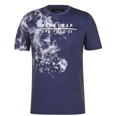 Tricou Firetrap Sub pentru Barbati bleumarin gri