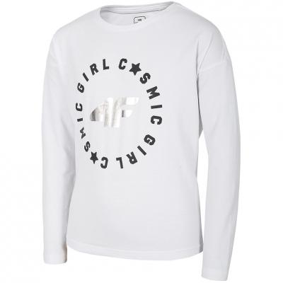 Tricou For 4F alb HJL20 JTSDL001B 10S pentru fete