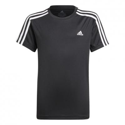 Tricou For Adidas Designed 2 Move 3-Stripes Tee negru GN1496 pentru Copii