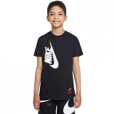 Tricou For Nike Nsw Tee Amplify Fa21 negru DJ6612 010 pentru Copii