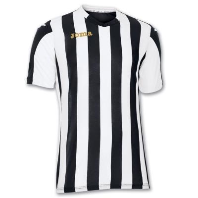 Tricou fotbal Copa Joma negru-alb cu maneca scurta