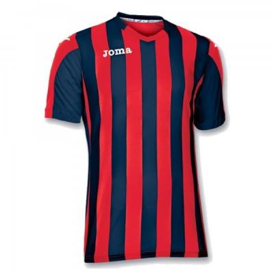Tricou fotbal Copa Joma rosu-bleumarin cu maneca scurta