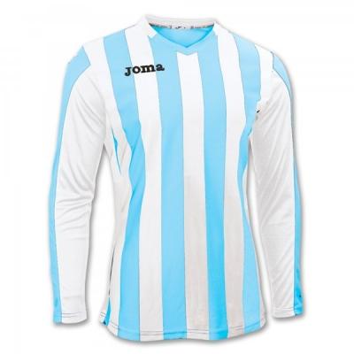 Tricou fotbal Copa Joma Sky albastru-alb cu maneca lunga bleumarin