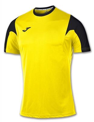 Tricou fotbal Estadio Joma galben-negru cu maneca scurta