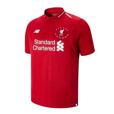Tricou fotbal New Balance Liverpool 6 Times pentru Barbati rosu