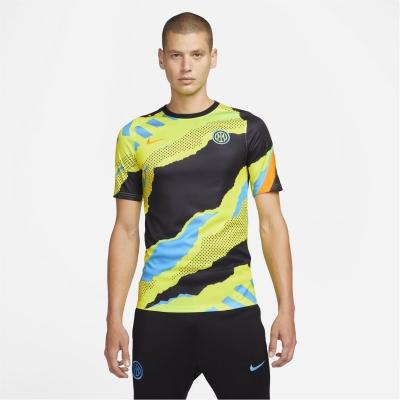 Tricou fotbal Nike Inter Milan European 2021 2022 negru galben