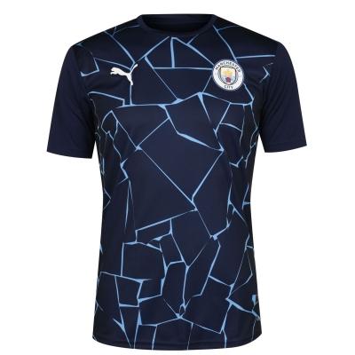 Tricou fotbal Puma Manchester City 2020 2021 pentru Barbati bleumarin albastru
