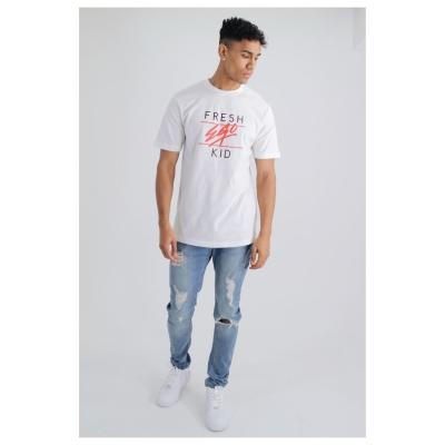Tricou Fresh Ego Kid Heritage pentru Barbati alb rosu