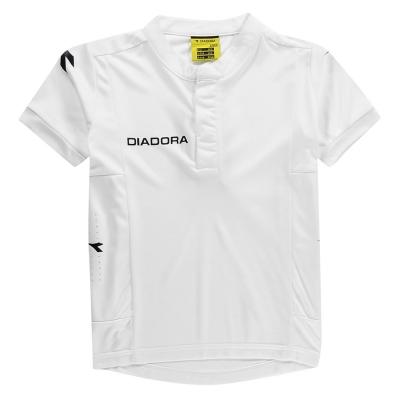 Tricou Diadora Fresno pentru baietei alb negru