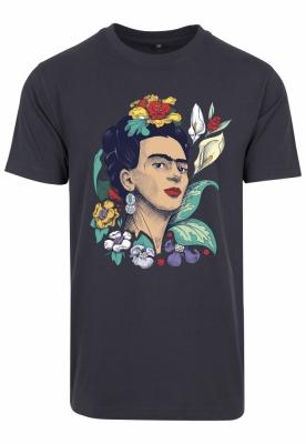 Tricou Frida Kahlo Flower pentru Femei bleumarin Merchcode