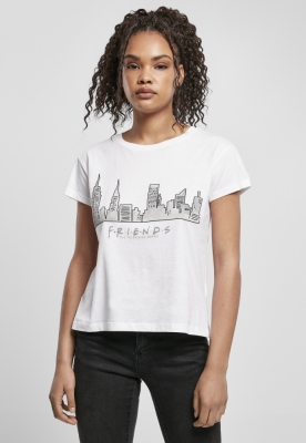 Tricou Friends Skyline Box pentru Femei alb Merchcode