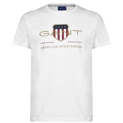 Tricou Gant Archive alb