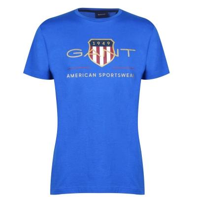Tricou Gant Archive albastru