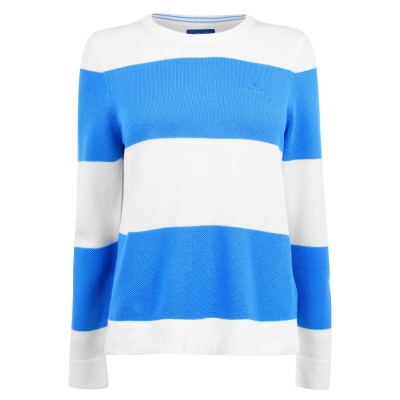 Tricou Gant Block cu dungi cu Maneca Lunga pacif albastru